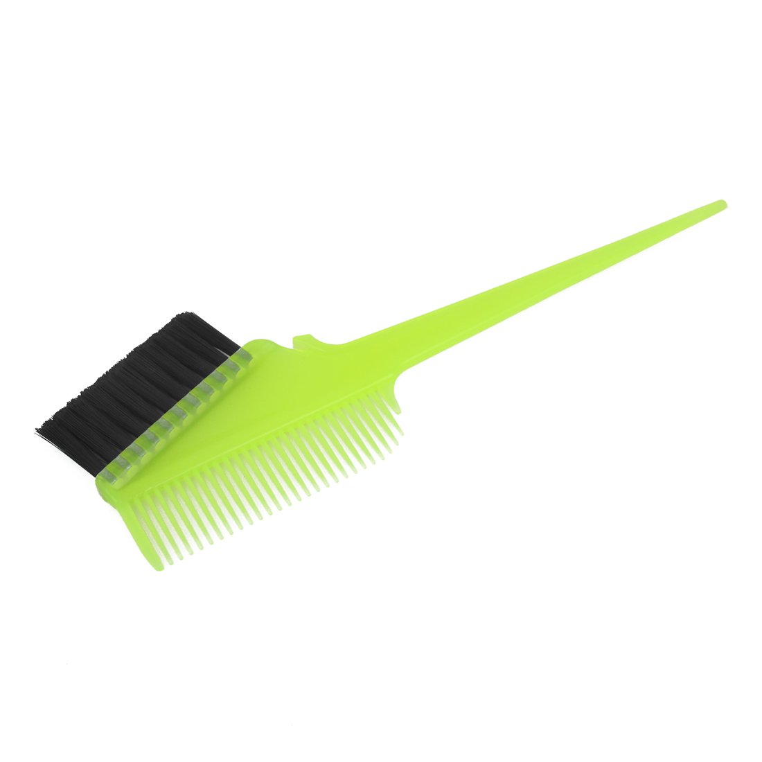 Green Tapered Handle Teeth Hair Dye Dyeing Comb Brush Hairstyle for Hairdresser