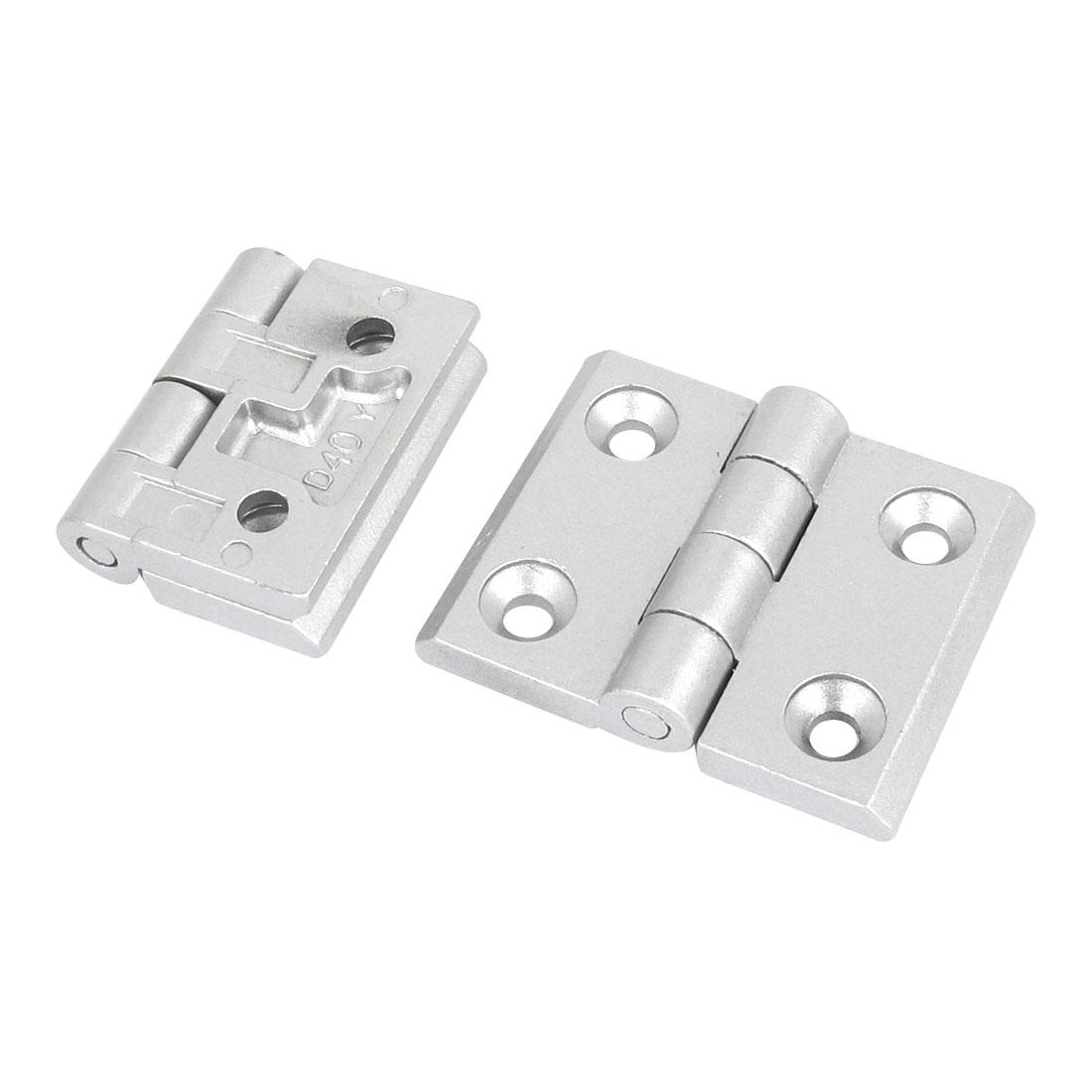 2pcs Cupboard Cabinet Closet Aluminum Alloy Door Butt Hinge 65mm Long