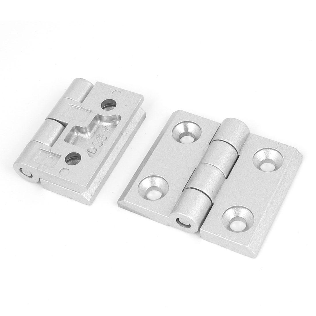 2pcs Cupboard Cabinet Closet Aluminum Alloy Door Butt Hinge 60mm Long