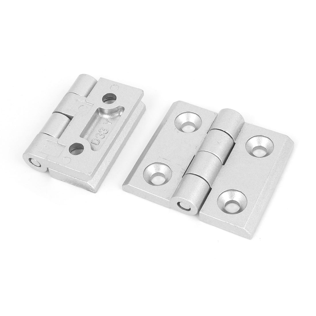 Cupboard Cabinet Closet Aluminum Alloy Foldable Door Butt Hinge 2pcs