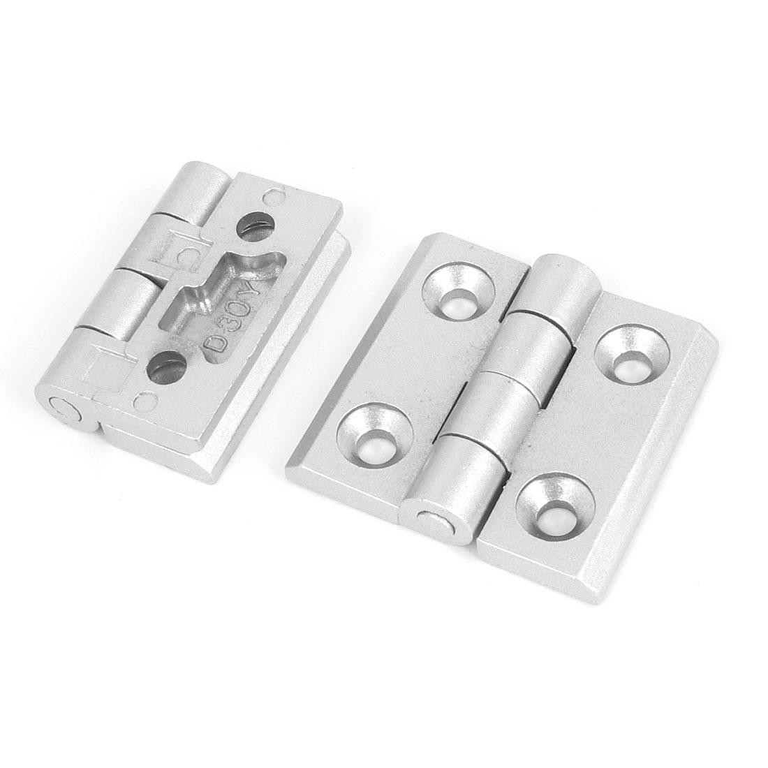 2pcs Cupboard Cabinet Closet Alloy Door Butt Hinge 55mm Long Silver Tone