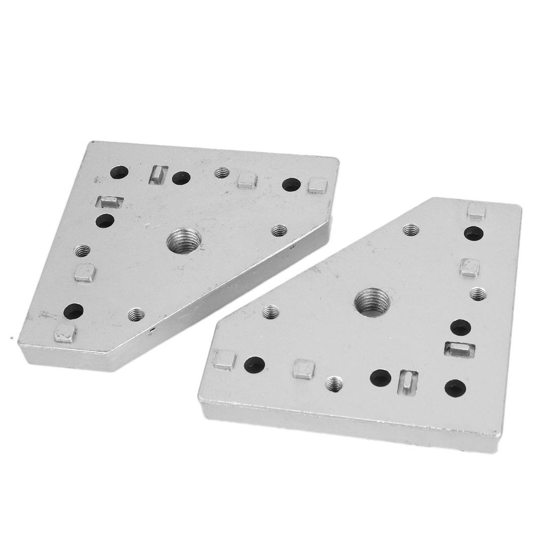 40 Metric Assembly Line Aluminium Caster Wheel Swivel Castor Fixing Plate Fastenings 2pcs