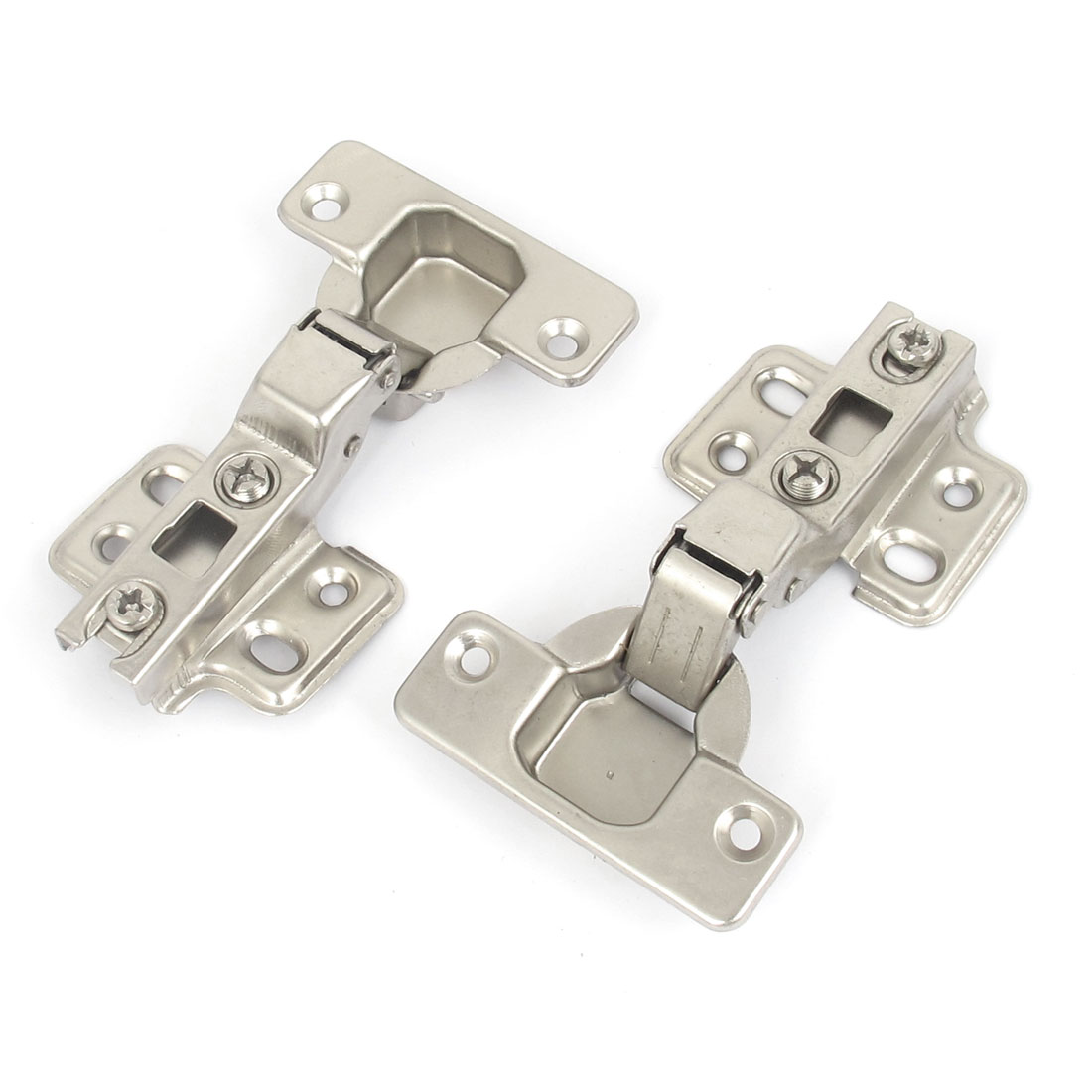 "Kitchen Cabinet Hydraulic Self Close Concealed Hinge Hardware 4"" Long 2pcs"