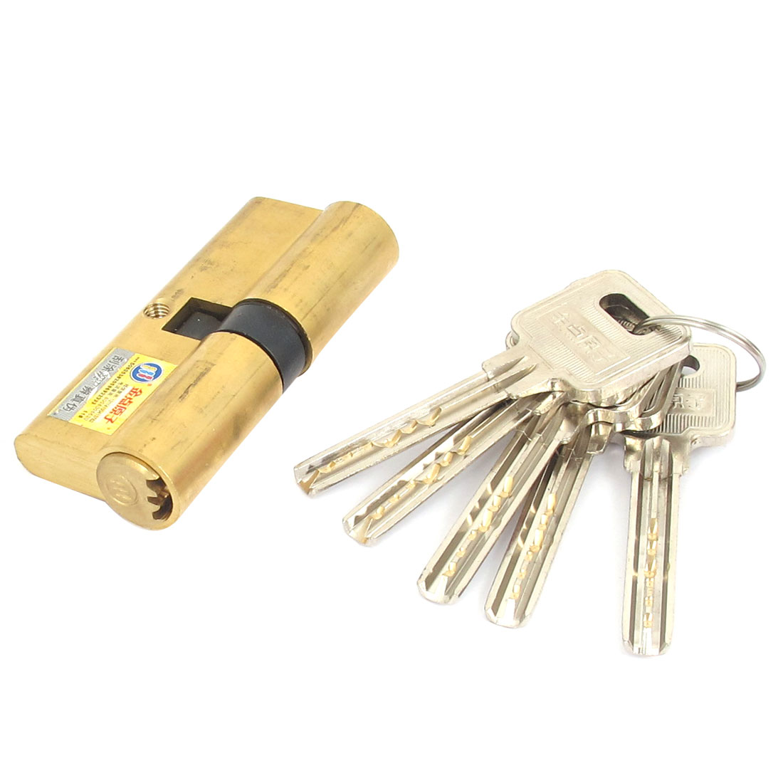 Home Office Metal Anti-theft Safety Security Door Lock Core Gold Tone w 5 Keys