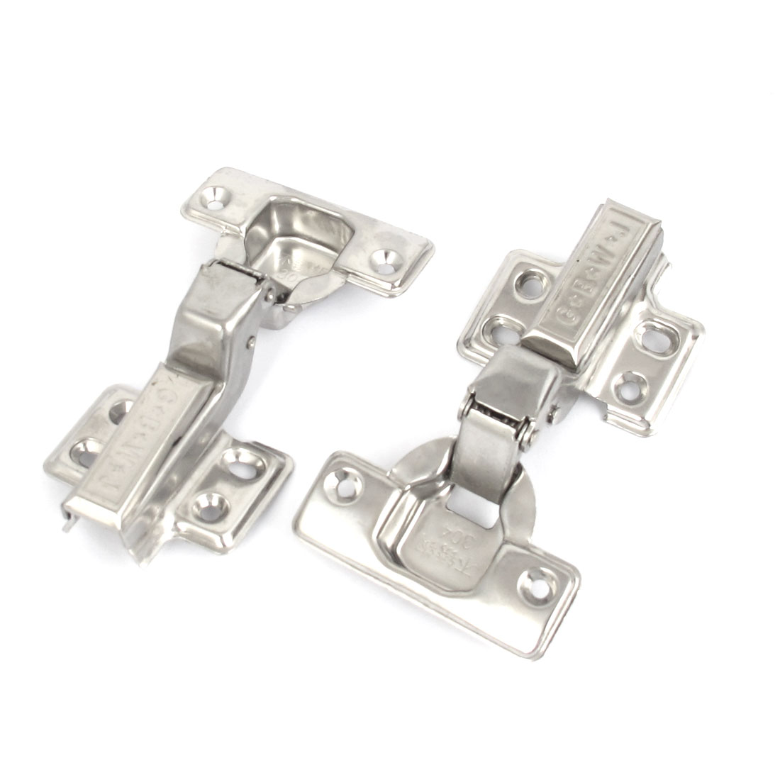 2pcs Kitchen Cabinet Hydraulic Self Close Concealed Inset Hinge Hardware 110mm