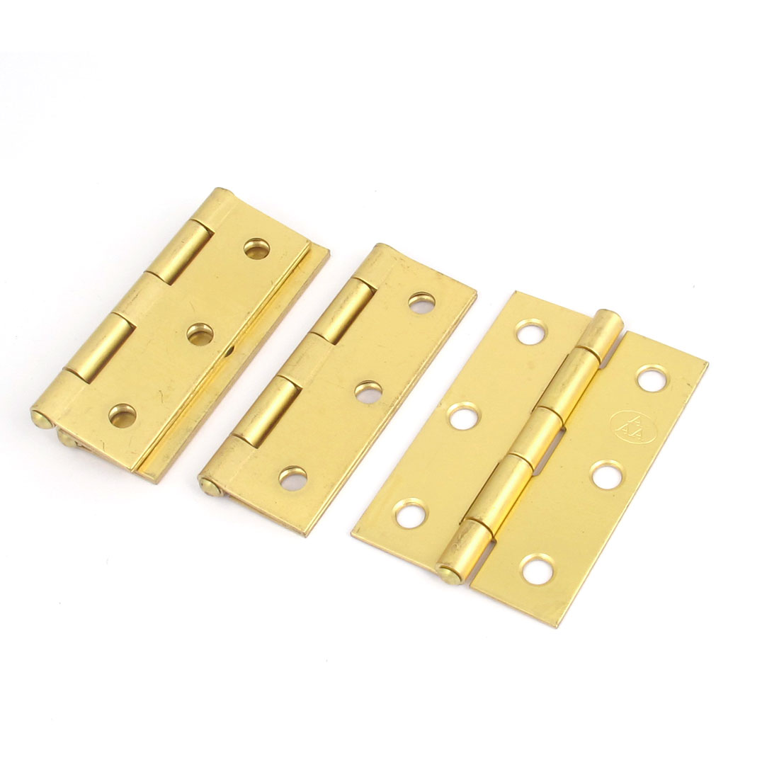 4pcs Cupboard Cabinet Furniture Hardware Brass Folding Door Butt Hinges 2.5""