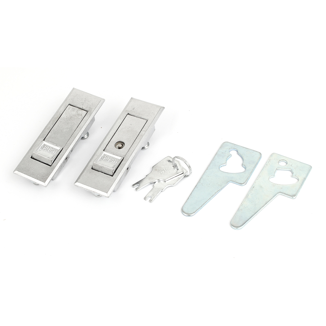 Home Office Electric Cabinet Door Push Button Metal Plane Lock 2pcs