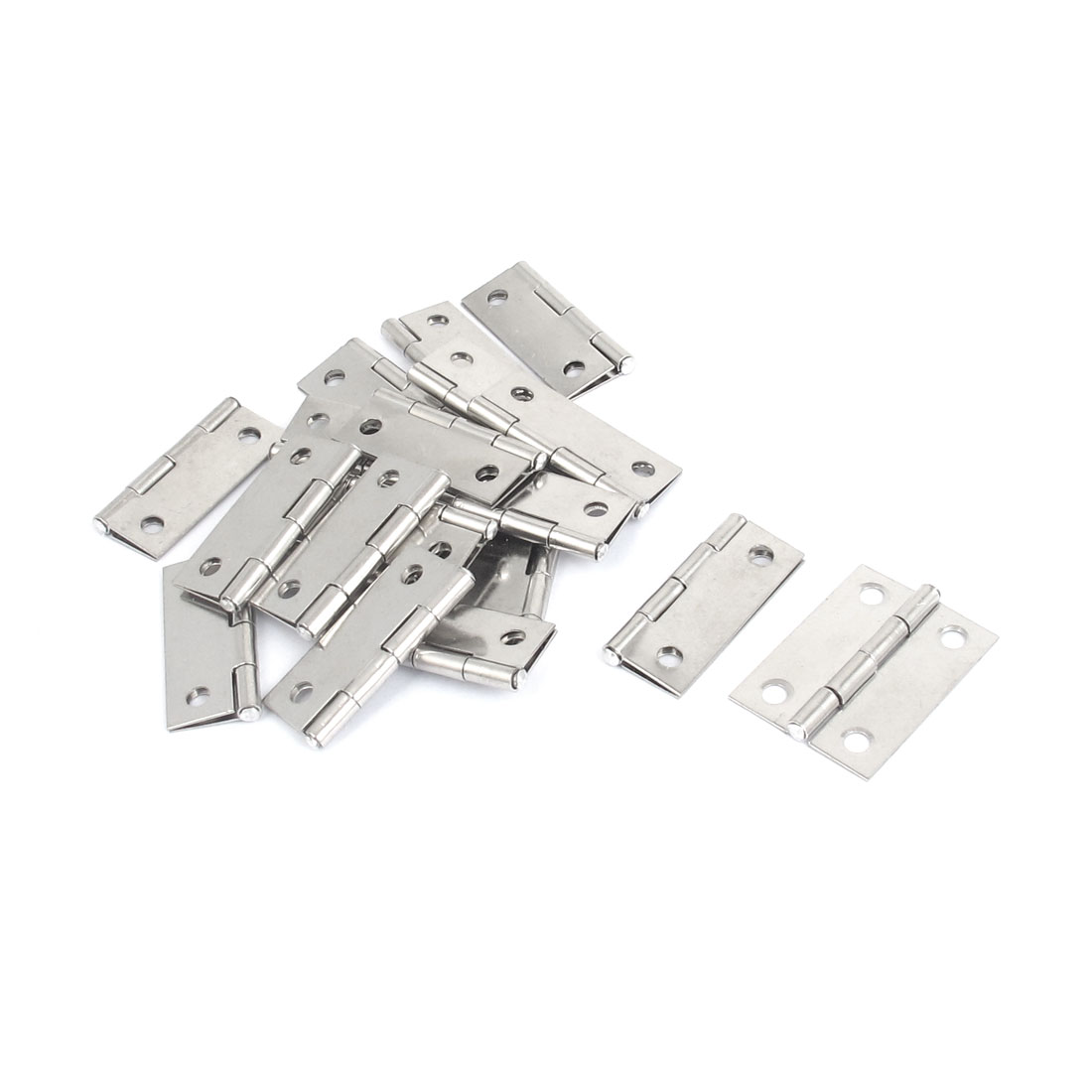 20 Pcs Cupboard Cabinet Furniture Hardware Gate Folding Door Butt Hinges 1.5""
