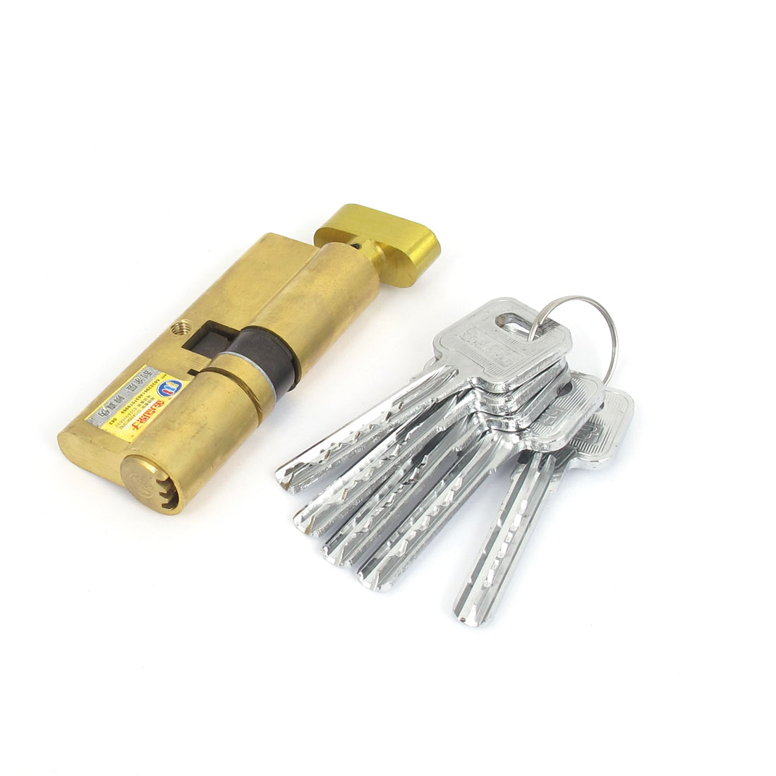 Gold Tone Metal Anti-theft Security Door Lock Locking Core for Home Office