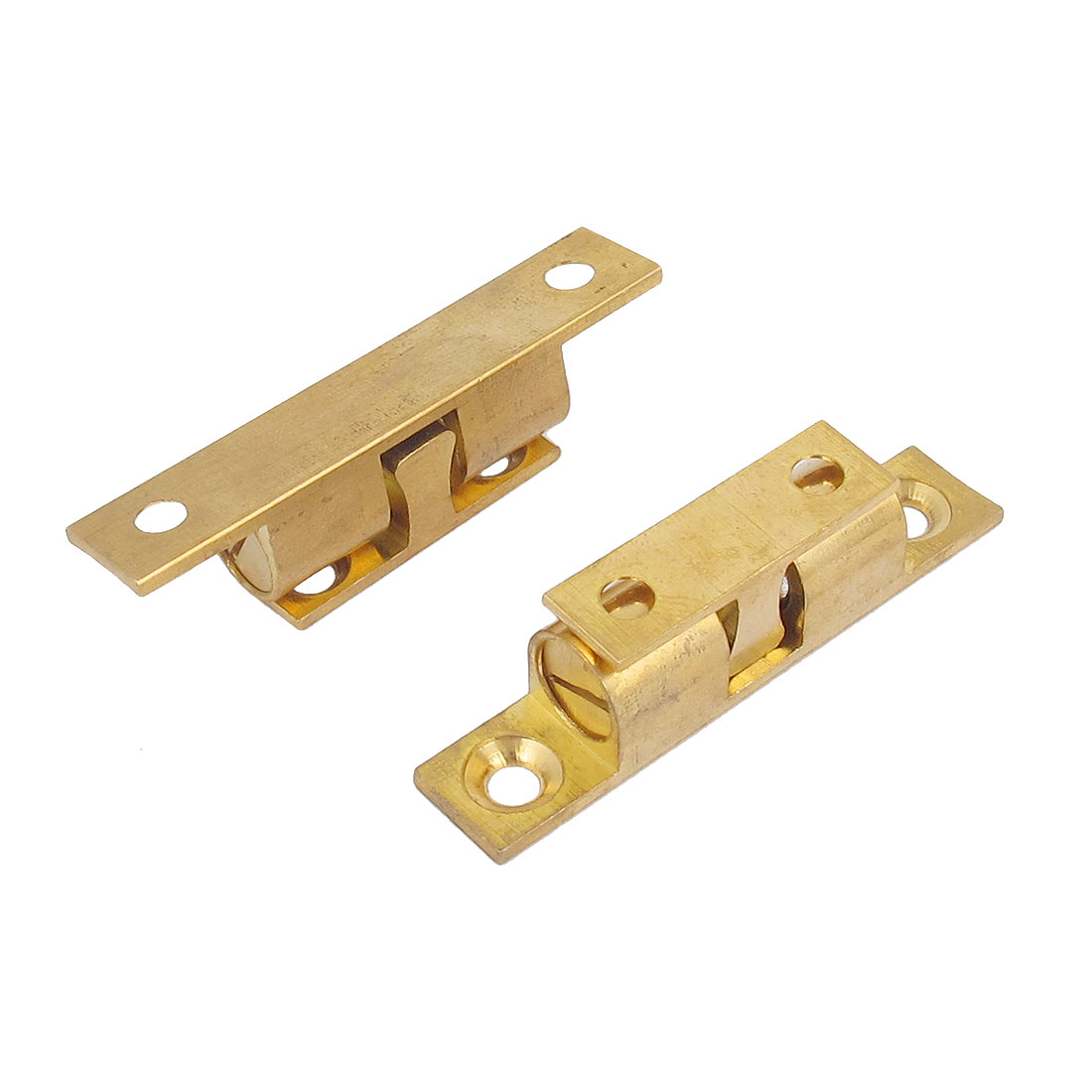 2pcs Cupboard Cabinet Door Double Ball Catch Brass Roller Latch 50mm Long Base