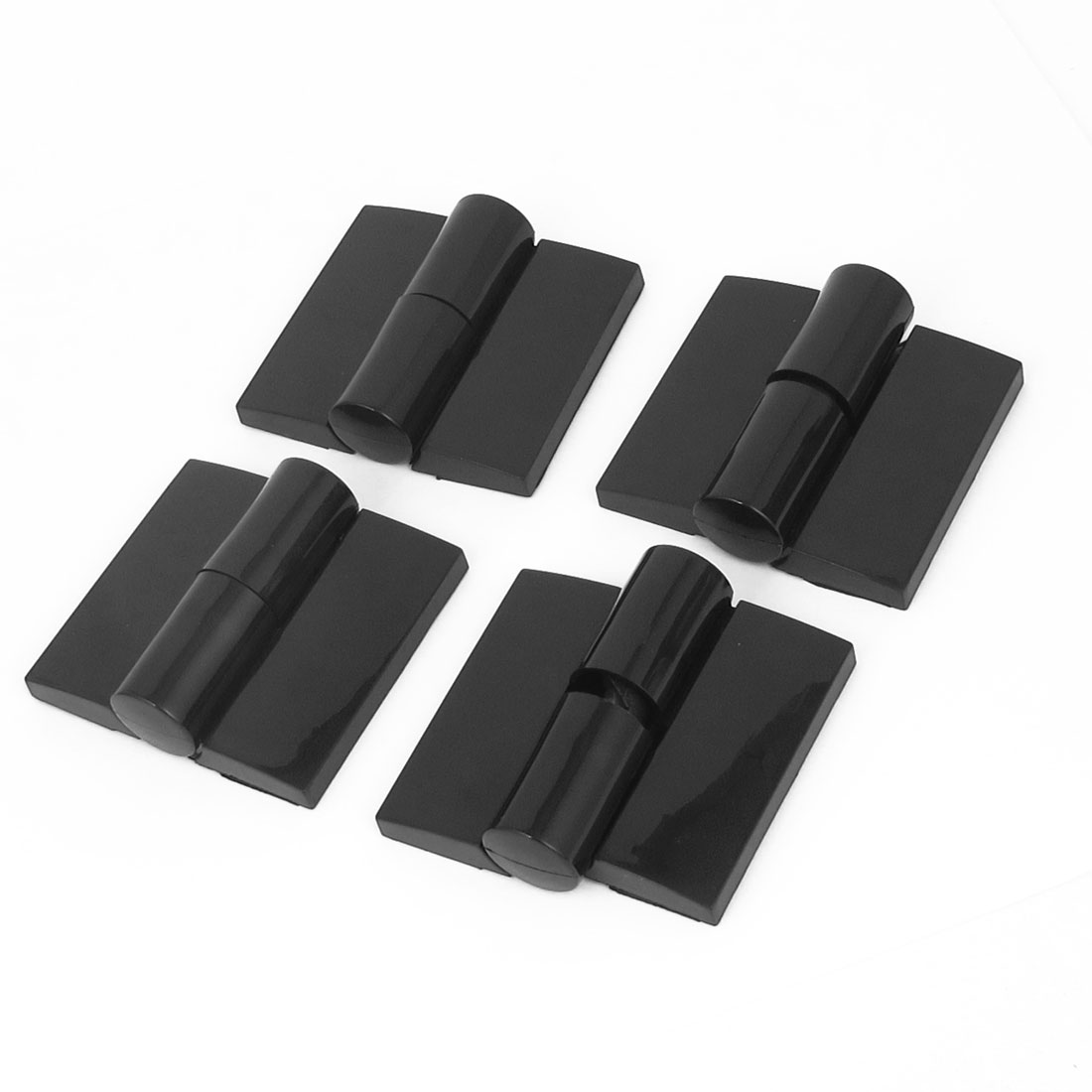 "4pcs Cupboard Cabinet Closet Plastic Foldable Door Butt Hinge Black 3"" Long"