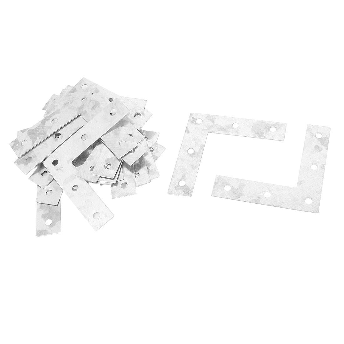 75mmx75mm Angle Plate Corner Brace Metal Flat L Shape Repair Bracket 20pcs