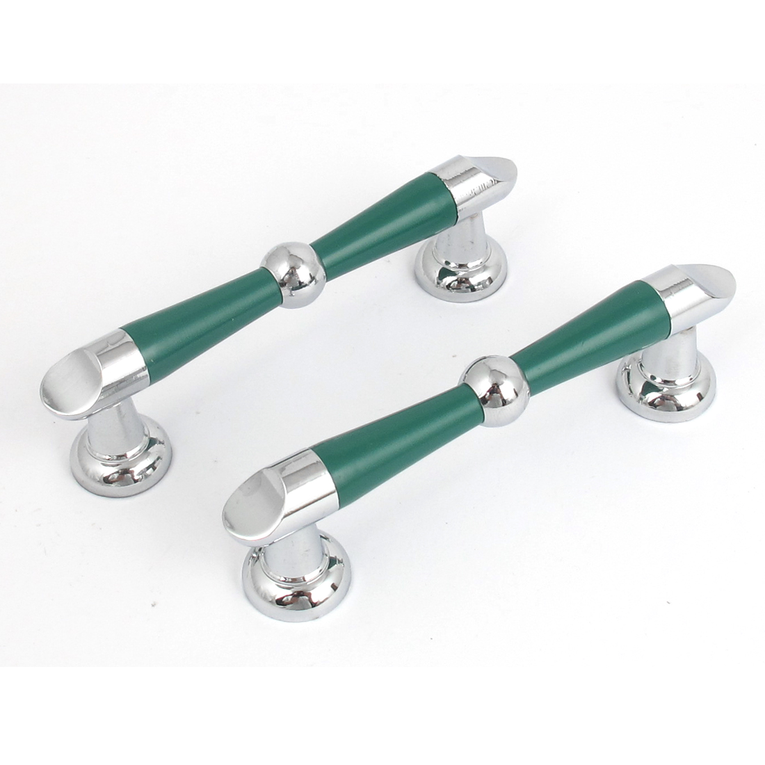 Kitchen Cabinet Cupboard Drawer Wardrobe Door Pull Handle Grip Green 2pcs
