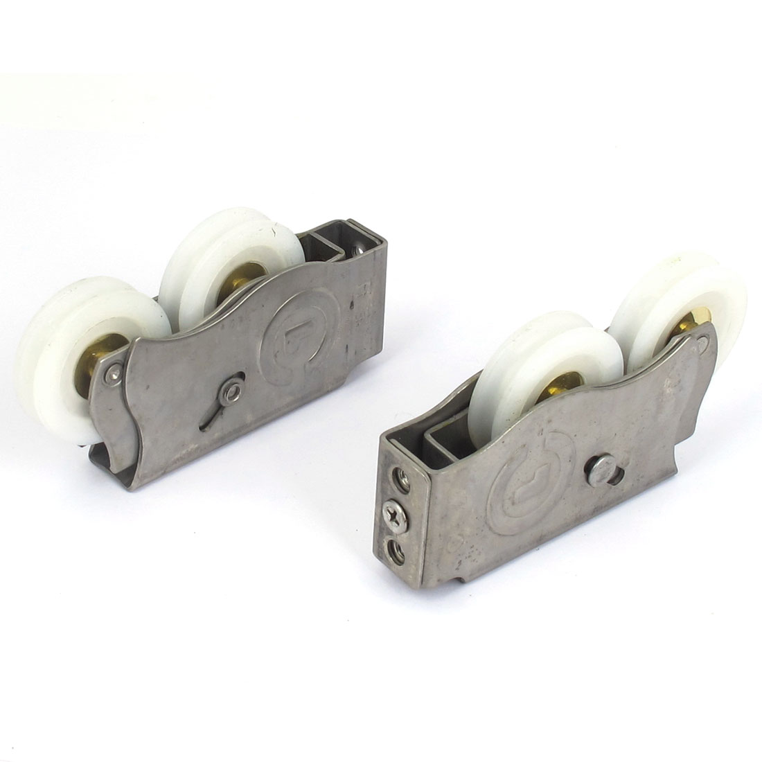 43mm Dia Wheel Double Roller Stainless Steel Door Window Sash Pulley 2pcs