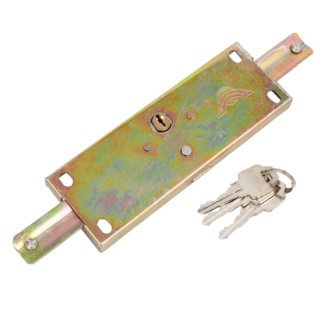 232mm Long Warehouse Rolling Shutter Door Lock Bronze Tone w 3 Keys