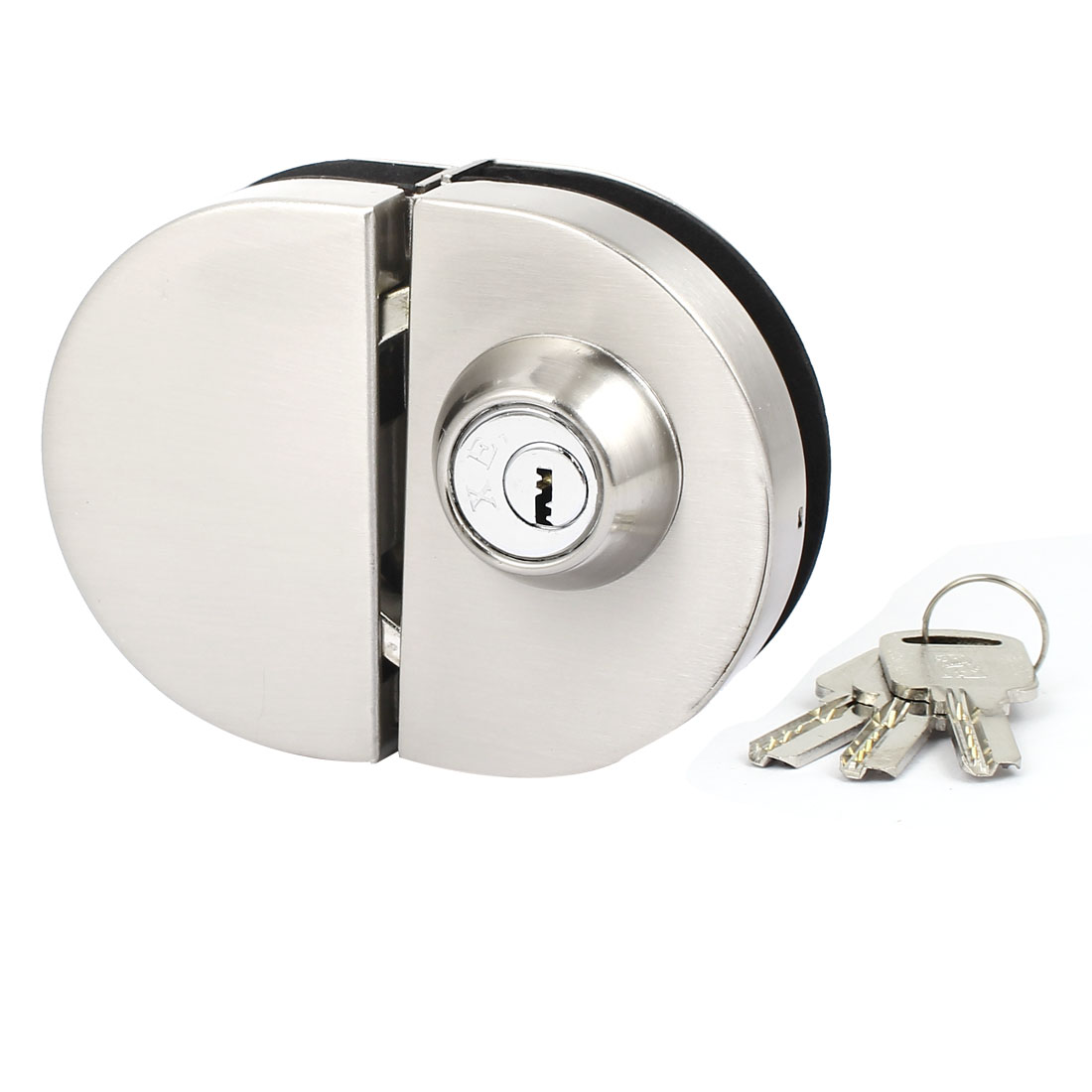 Semi-Circle Glass Door Lock for 8mm-12mm Thickness