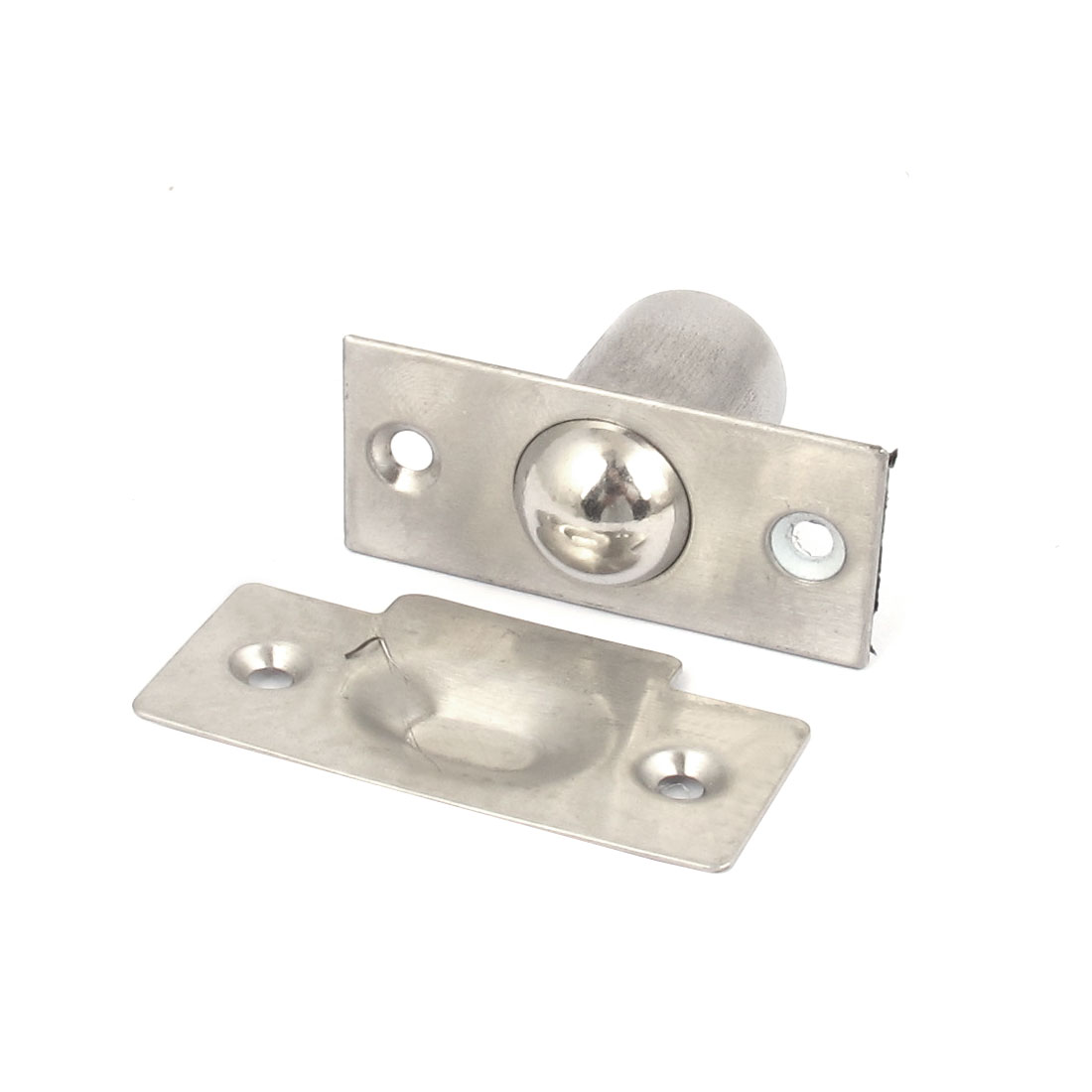 Cabinets Closet Door Stainless Steel Ball Catch Latch Catcher Set Silver Tone