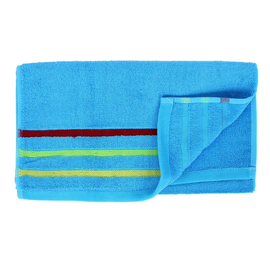Home Cleaning Cotton Blend Bath Hand Face Terry Towels Washcloths Blue