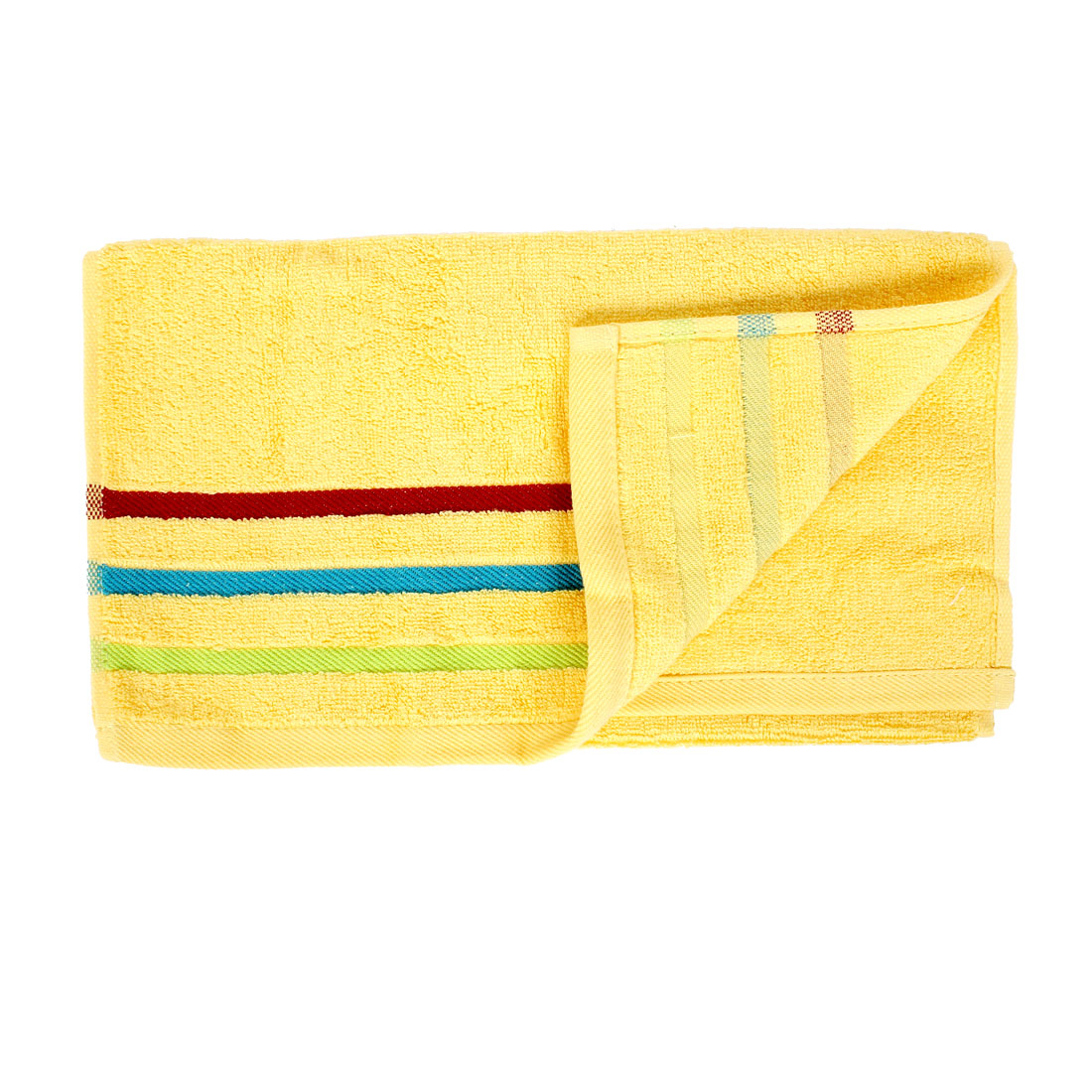 Family Using Cotton Blend Shower Hand Face Wash Terry Towels Washcloths Yellow