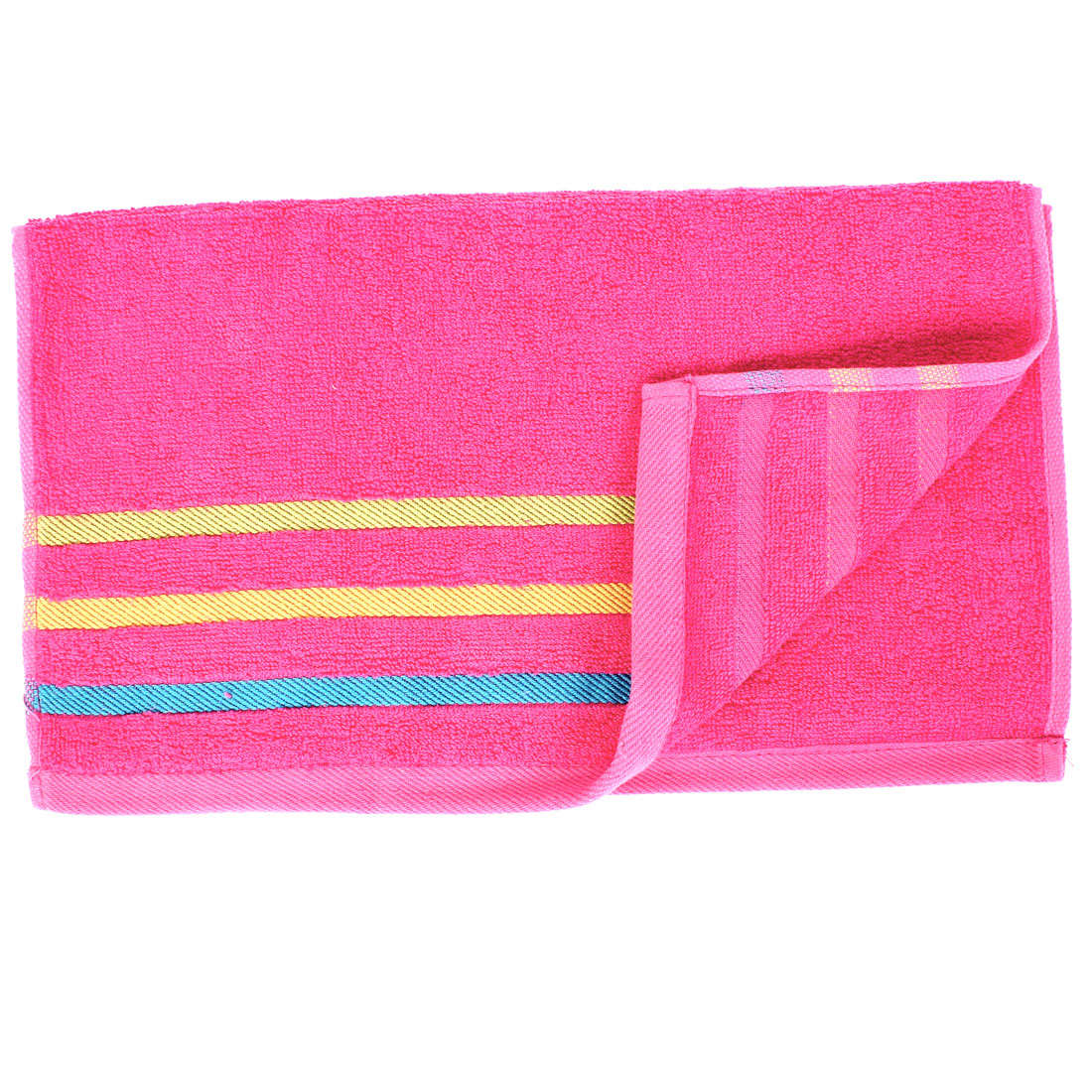 Cotton Blend Hair Wash Drying Bath Shower Beach Hand Face Towel Washcloths Fuchsia