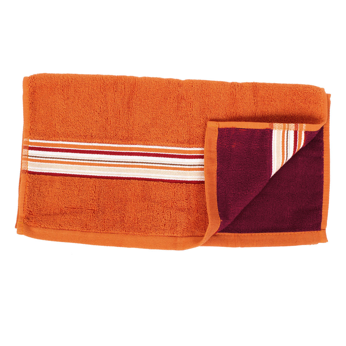 Hair Cleaning Drying Shower Face Hand Washing Terry Towel Washcloth Orange