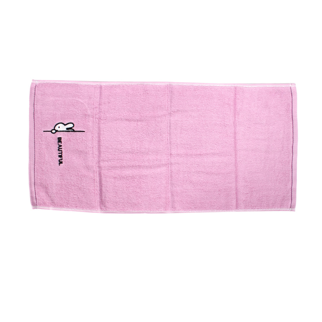 Cotton Blend Bath Hair Washing Hand Face Towels Washcloths Light Pink 34 x 72cm