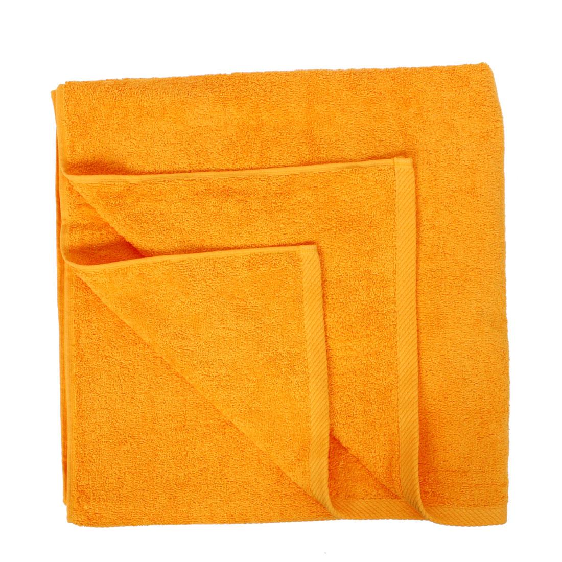 Household Bathroom Gym Beach Shower Bath Towel Sheet Orange 160 x 80cm