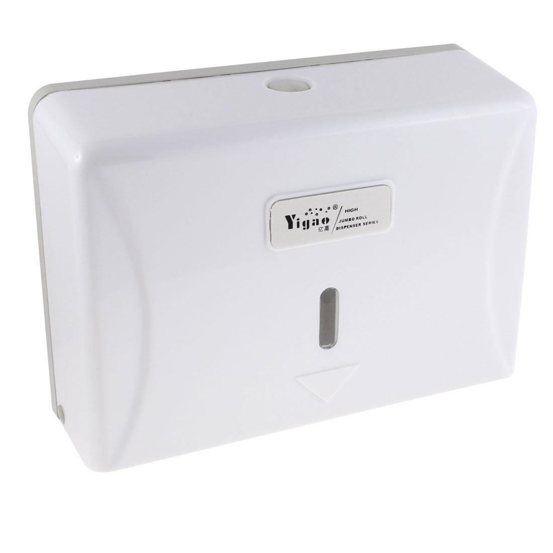 Restaurant Toilet Plastic Wall-hanging Paper Tissue Holder Case Dispenser White