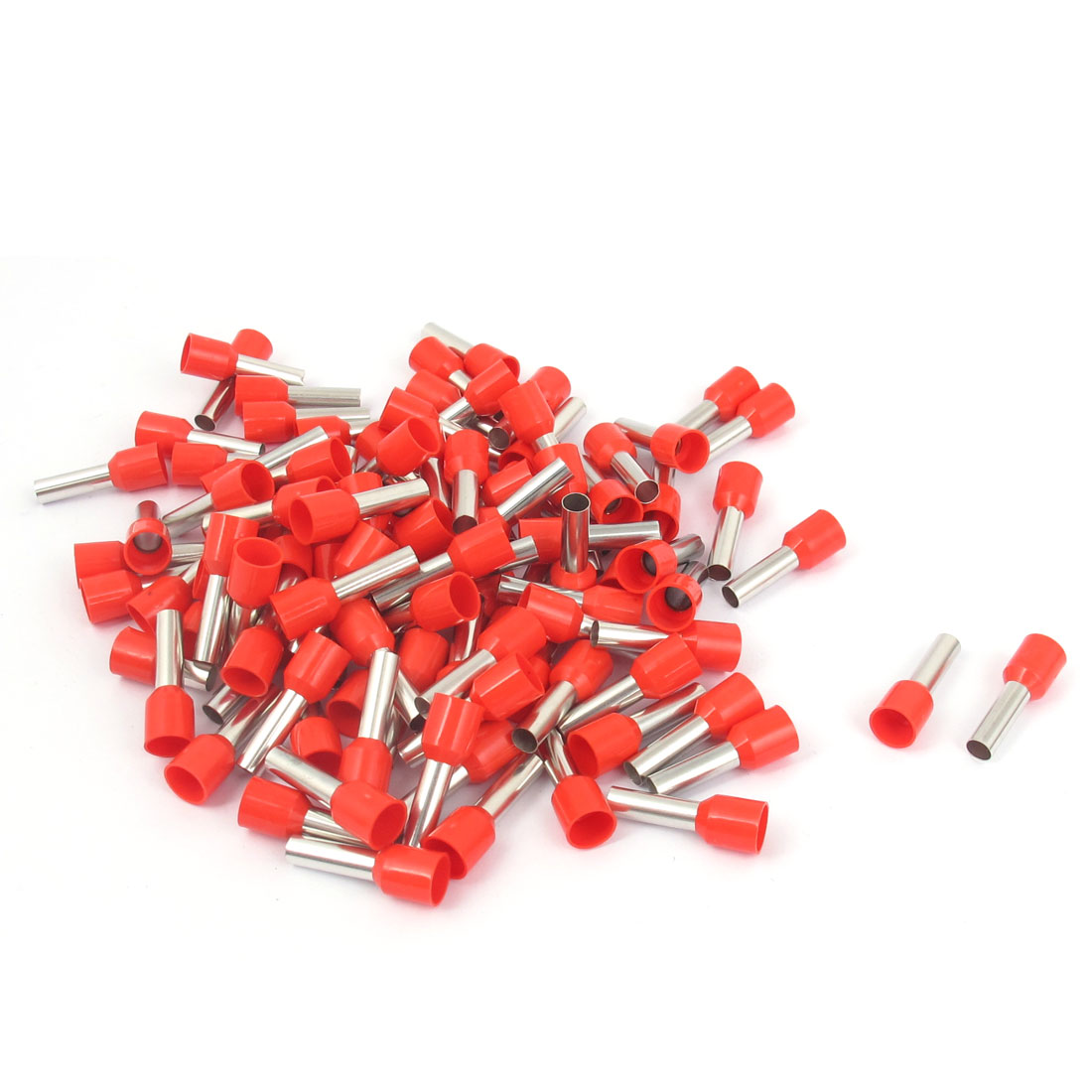 180Pcs E6012 Red Plastic Tube Pre Insulated Bootlace Ferrules Wiring Terminals Connectors