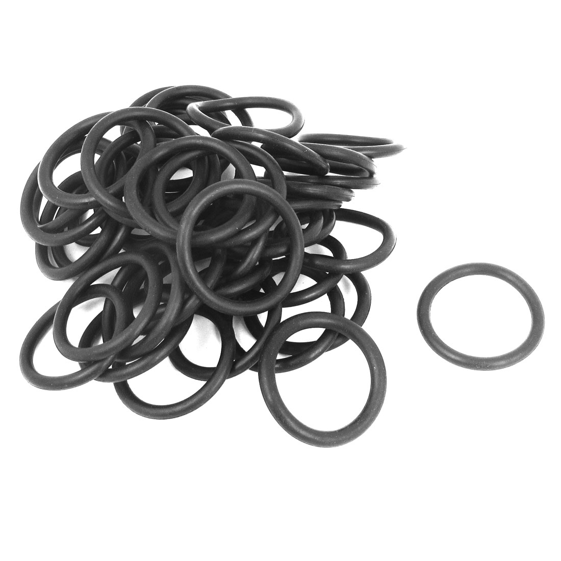 55pcs Rubber Gasket O Ring Seal Washers 38mmx4mm Black for PP-R Tube Connector`