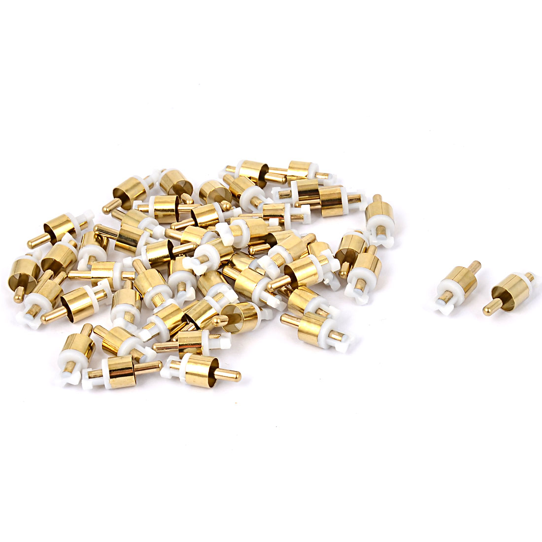 RCA Male Jack Connector Audio Coaxial Cable Cord Adapter 50pcs