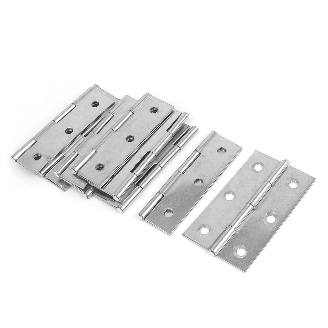 10Pcs 65mmx37mm Stainless Steel Folding Furniture Cabinet Door Butt Hinge