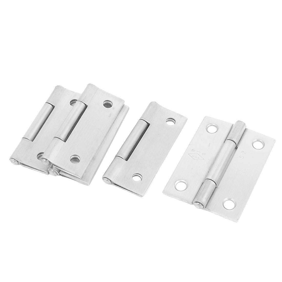 5 Pcs 50mmx37mm Stainless Steel Folding Furniture Cabinet Door Butt Hinge