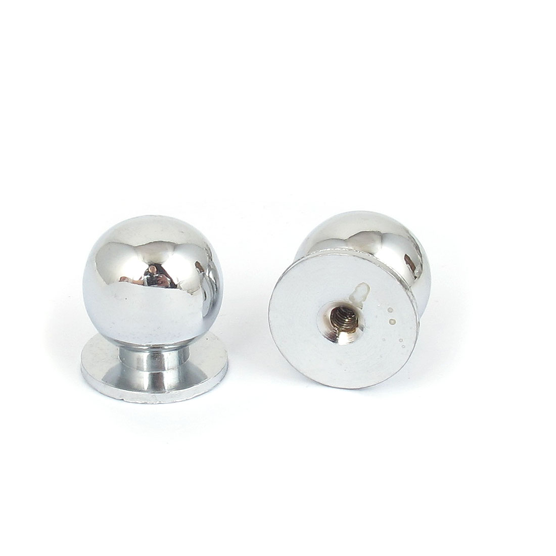 Household 22mm Dia Metal Ball Shape Cabinet Cupboard Handle Pull Knob 2Pcs