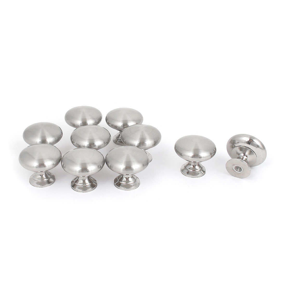 Home Closet Drawer Round Door Pull Knob Hardware 30mm Diameter 10 PCS