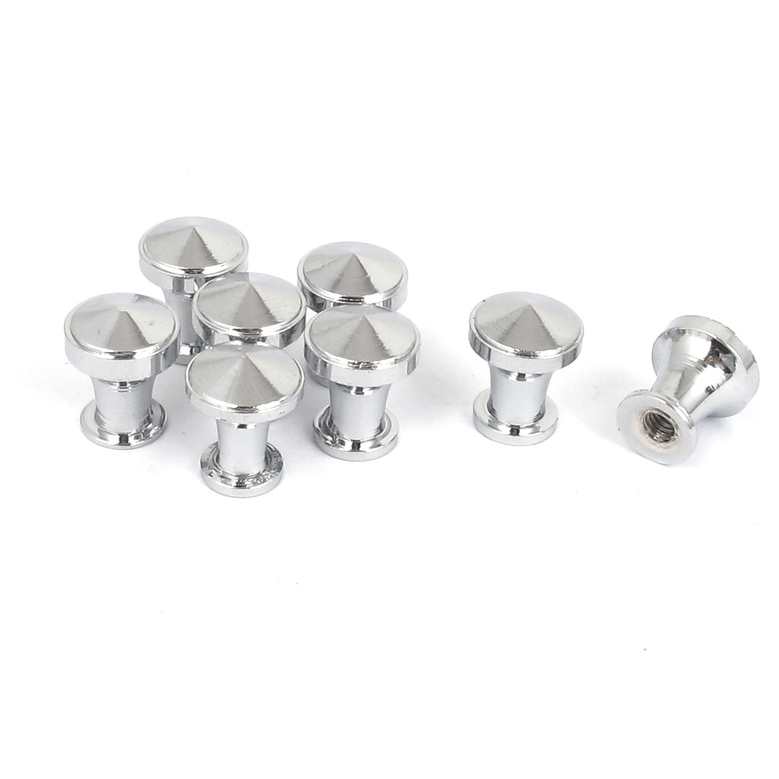 12mm Dia Knob Furniture Kitchen Cabinet Drawer Door Chrome Plated Pull Handle 8pcs