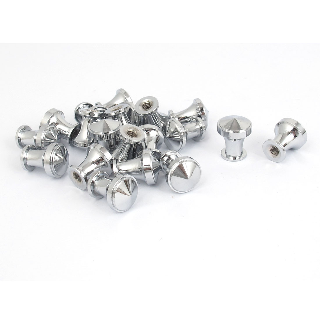 20 Pcs Silver Tone Round Cabinet Dresser Metal Pull Knob Handle Grip 12mm Dia