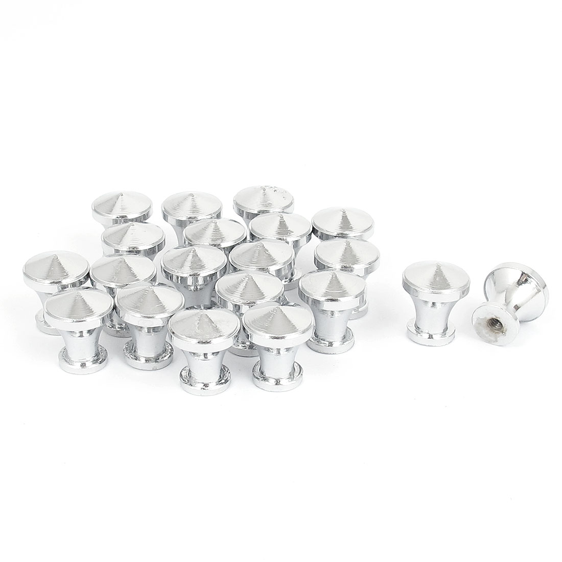 15mm Dia Knob Furniture Kitchen Cabinet Drawer Door Chrome Plated Pull Handle 20pcs