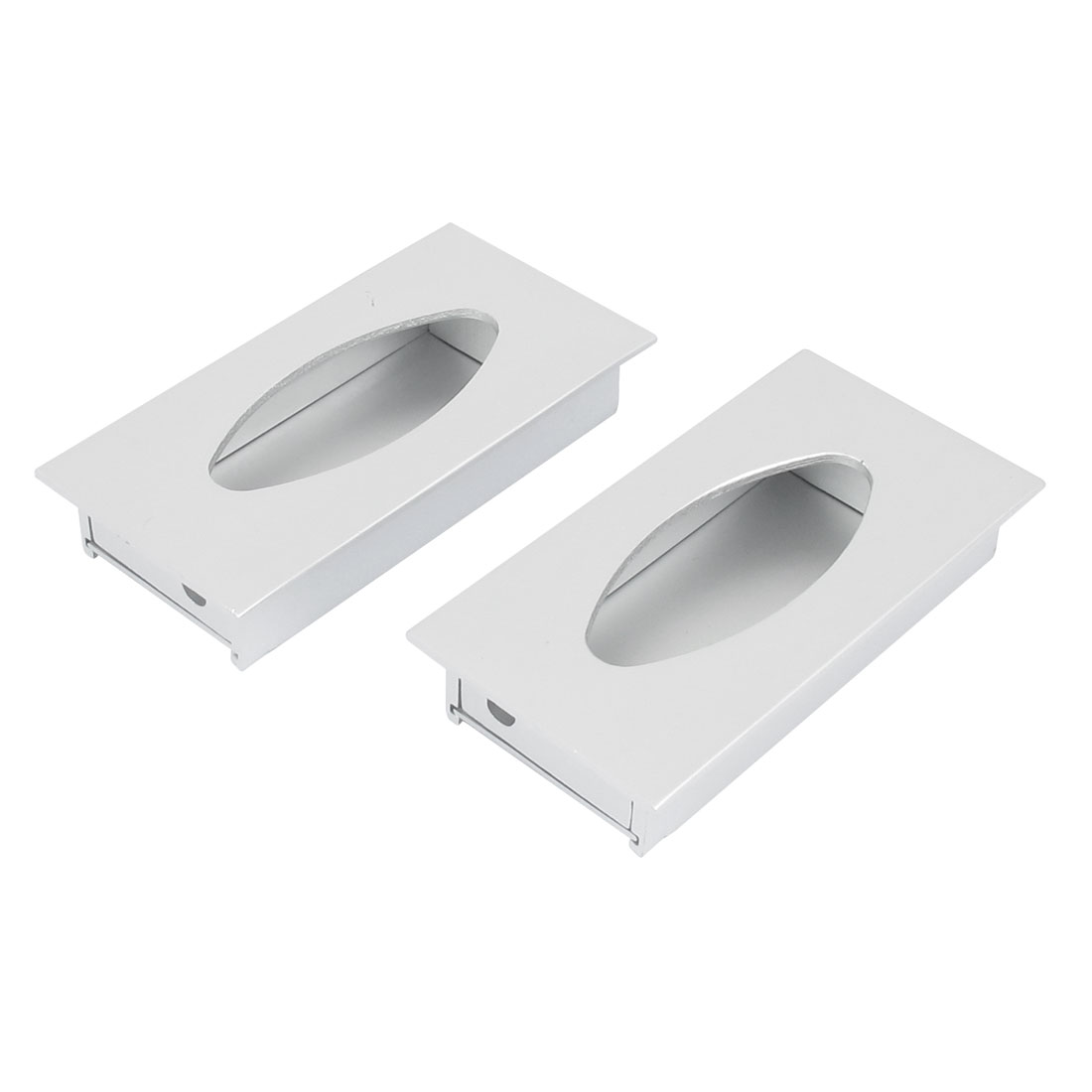 Drawer Closet Door Recessed Flush Pull Handle Hardware 80mmx42mm 2Pcs