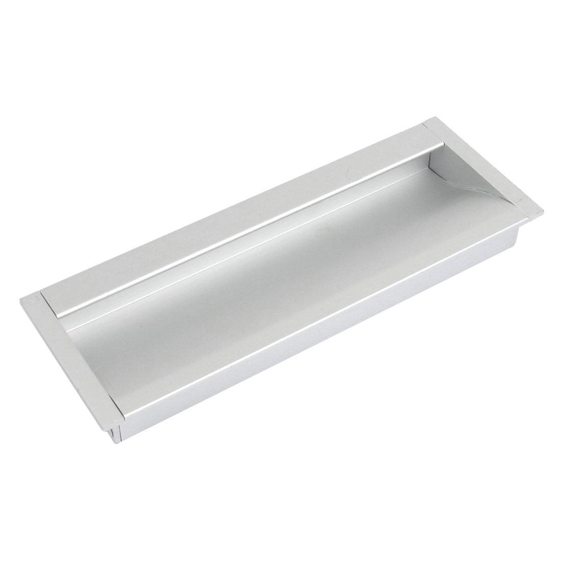 """Aluminium Rectangle Drawer Door Flush Recessed Pull Handle Grip 5"""" Length"""