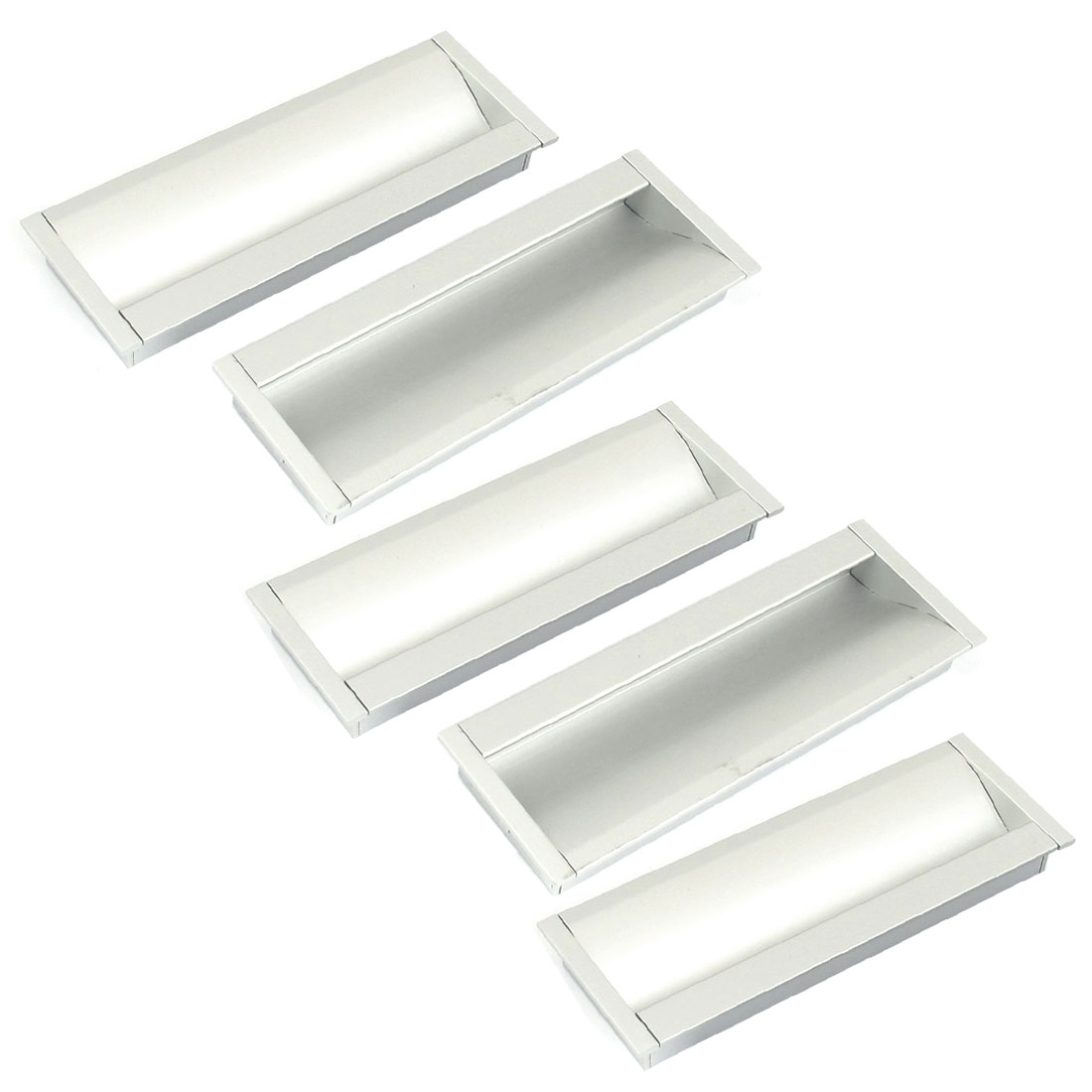 5Pcs Aluminium Alloy Cabinet Drawer Cupboard Door Pull Handle Grip 130mm Length