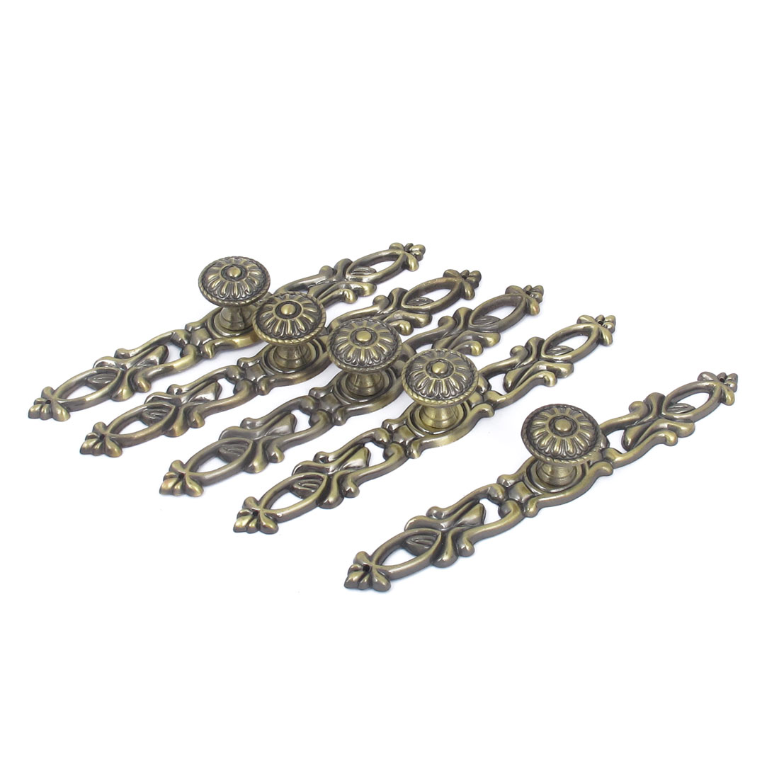 15cm Long Drawer Dresser Door Pull Handles Bronze Tone 5pcs