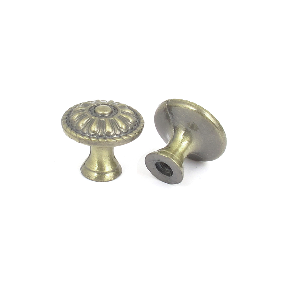 Retro Style Furniture Cabinet Drawer Closet Pull Handle Knob Bronze Tone 2pcs