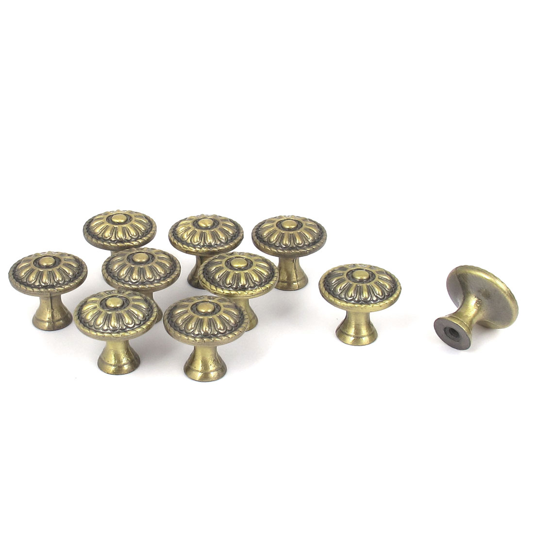 Case Cabinet Drawer 23mm Dia Pull Handle Dome Knob Bronze Tone 10pcs