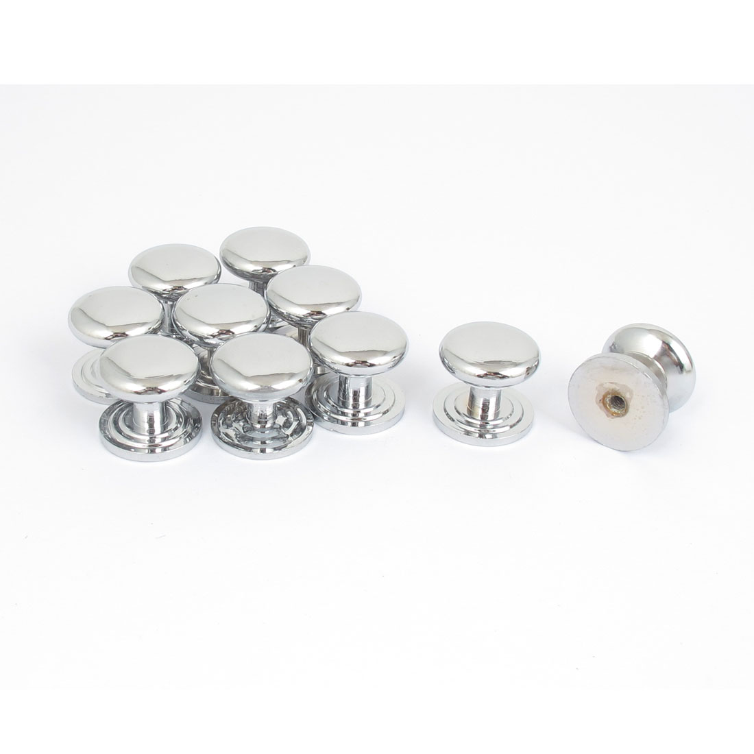 22mmx19mm Furniture Kitchen Cabinet Drawer Chrome Plated Pull Handle Knob 10pcs