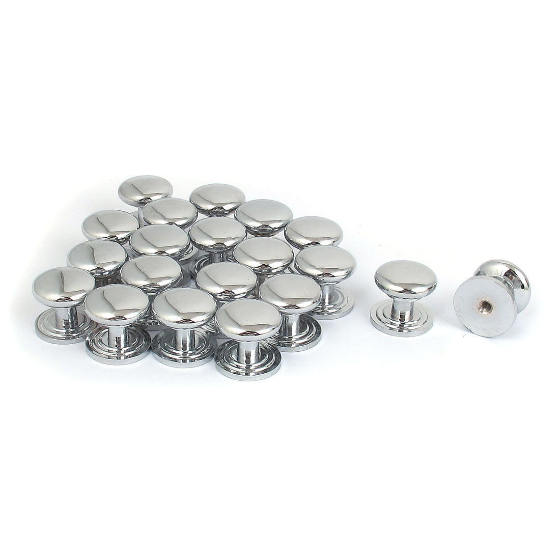 22mmx20mm Furniture Kitchen Cabinet Drawer Chrome Plated Pull Handle Knob 20pcs