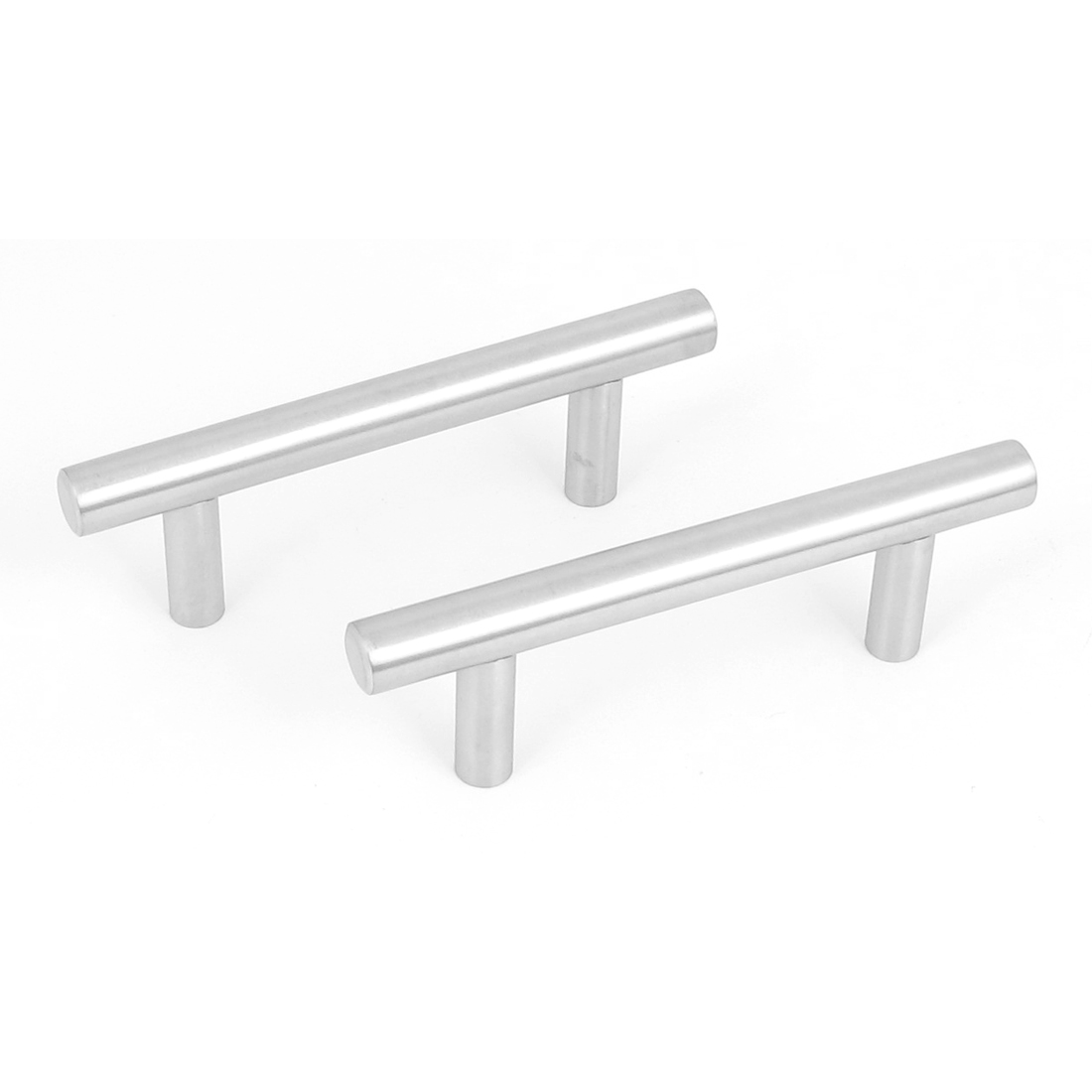 """2pcs Stainless Steel Kitchen Cupboard Cabinet Drawer T Bar Pull Handle Knob 4"""""""