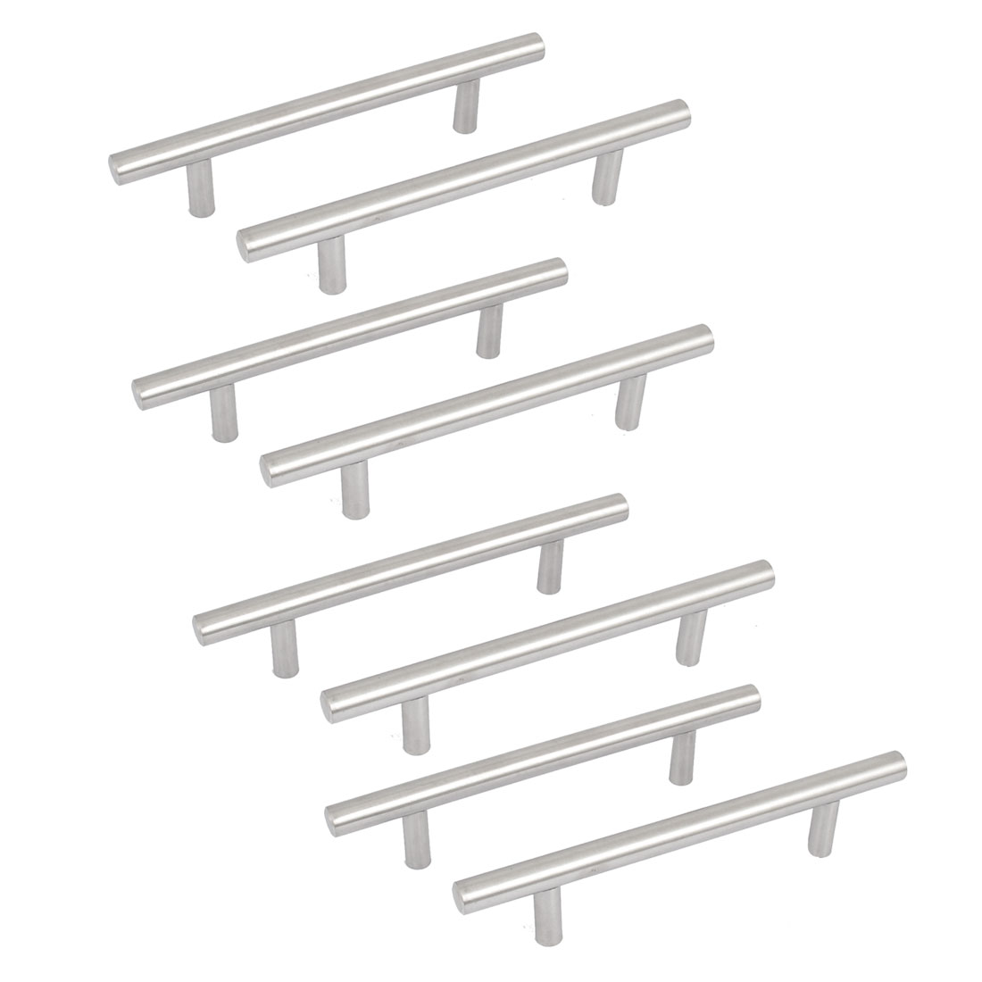 """8pcs Stainless Steel Kitchen Cupboard Cabinet Drawer T Bar Pull Handle Knob 6"""""""