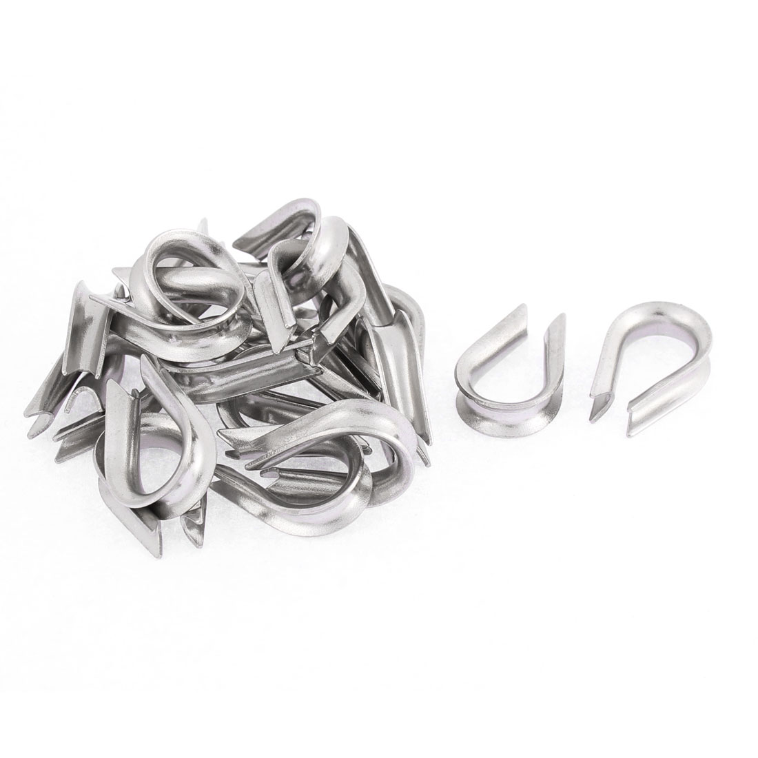 Stainless Steel 3mm Standard Wire Rope Cable Thimbles Rigging Lifting Gear 20pcs