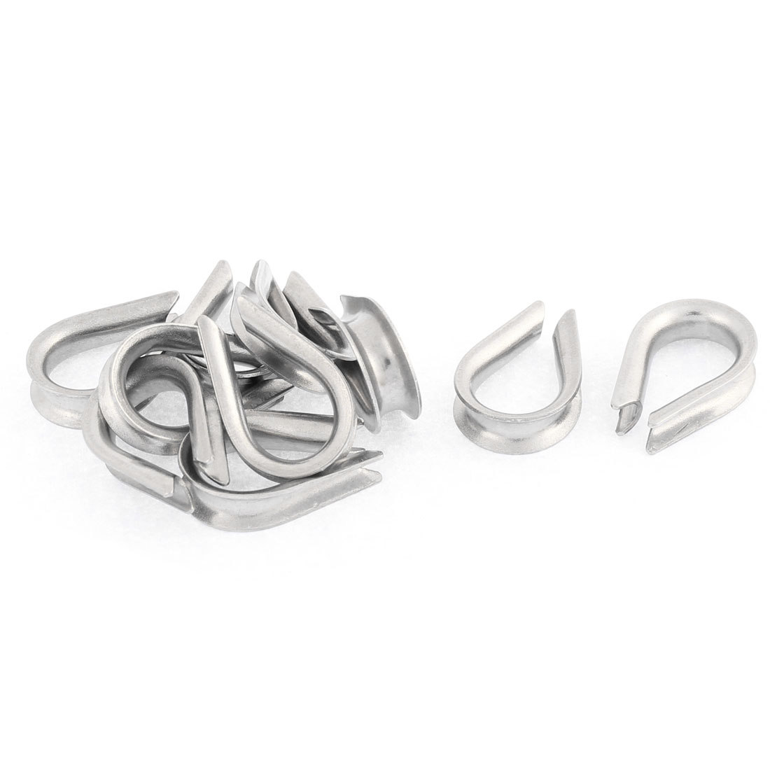 Stainless Steel 4mm Standard Wire Rope Cable Thimbles Rigging Hardware 10pcs